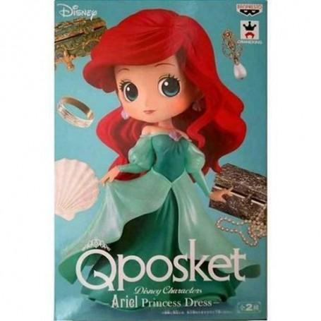 Figurine Disney Qposket - La Petite Sirène - Ariel Robe de Princesse (Bleu)
