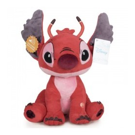 Peluche sonore Stitch - Leroy (Rouge) - 30cm