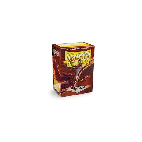 Protèges-cartes Dragon Shield 100 / taille standard - Crimson Matte