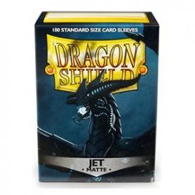 Protèges-cartes Dragon Shield 100 / taille standard - Jet Matte