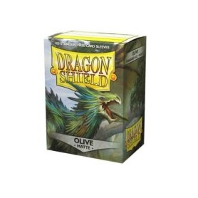 Protèges-cartes Dragon Shield 100 / taille standard - Olive Matte