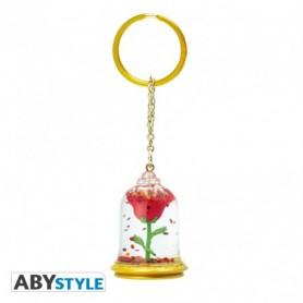 Porte-clés Disney - La Belle et la Bête - Rose
